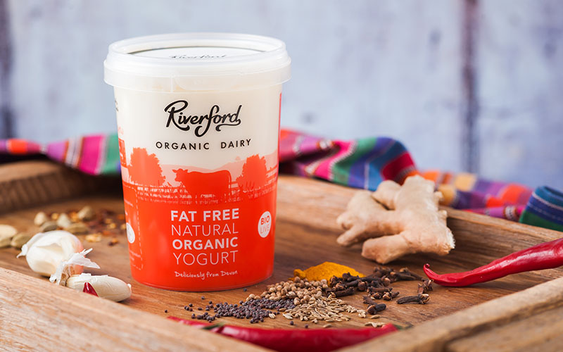 A picture of Organic Fat Free Natural Yogurt from Riverford Organic Dairy