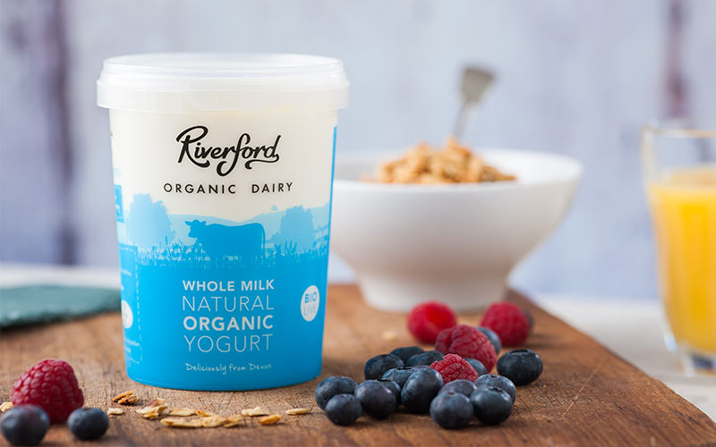 A picture of Organic Whole Milk Natural Yogurt from Riverford Organic Dairy