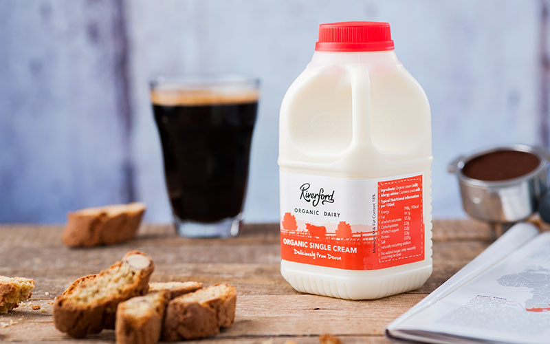 A picture of Organic Single Cream from Riverford Organic Dairy